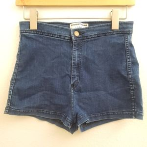 American Apparel High Rise Denim Shorts SK11